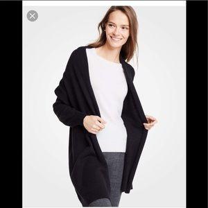 EUC Ann Taylor wool blend drop shoulder cardigan